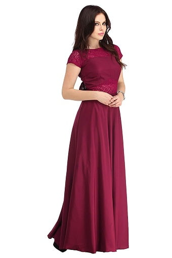 party wear gowns with sleeves